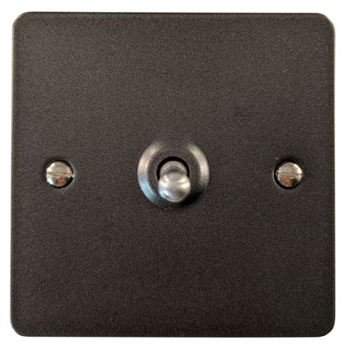 G&H FP281 Flat Plate Pewter 1 Gang 1 or 2 Way Toggle Light Switch